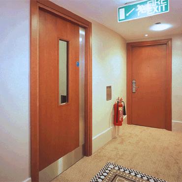Acoustic door.