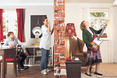 reduce sound from noisy neighbours